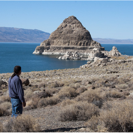 Members of the Pyramid Lake Paiute Tribe living in the Pyramid Lake region in Nevada depend strongly on the health of this freshwater ecosystem. A study to investigate these impacts was funded by the US DOI Southwest Climate Science Center. (Photo credit Dan Mosely)
